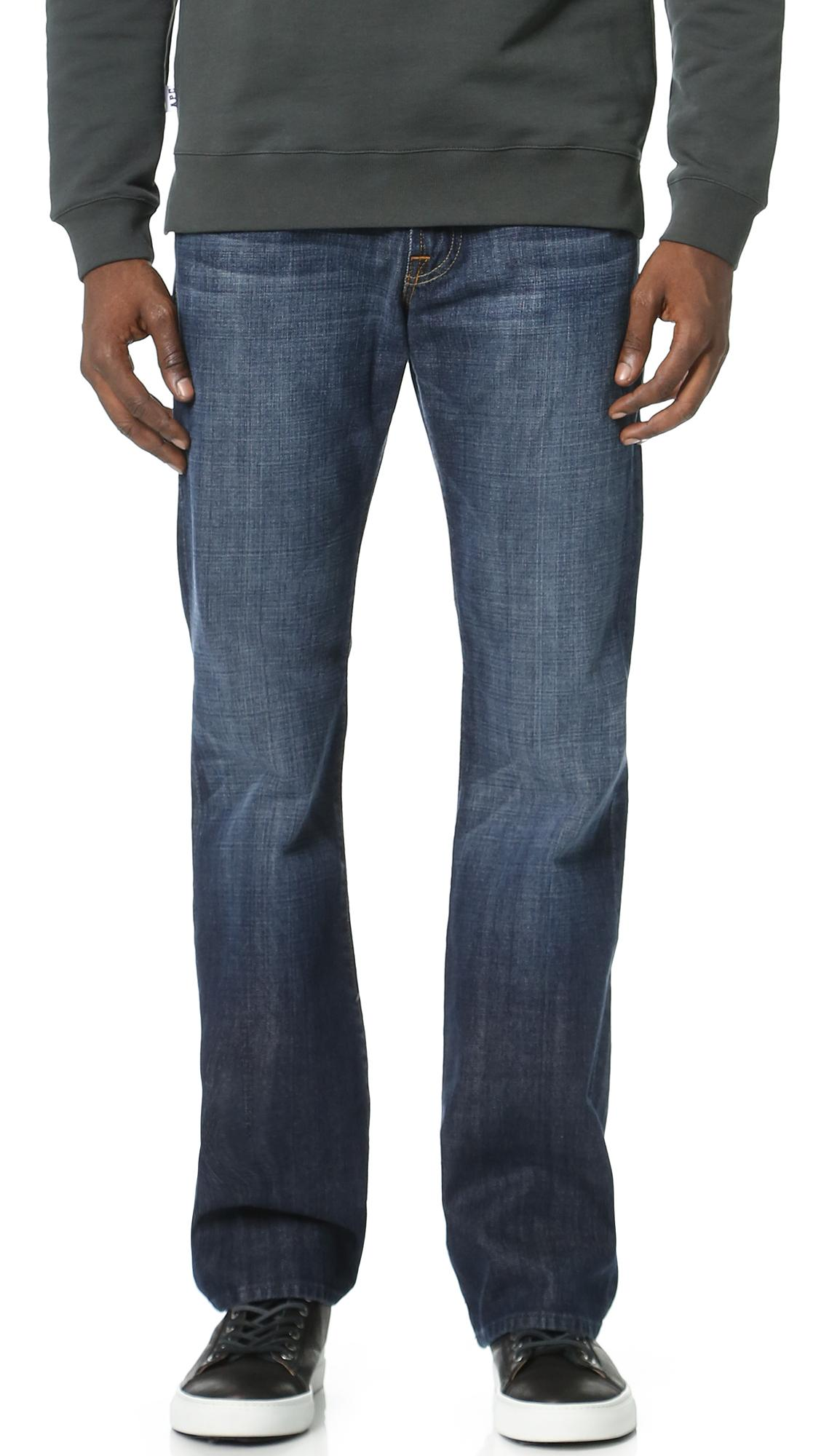 7 For All Mankind Brett Boot Cut Jeans In Blue