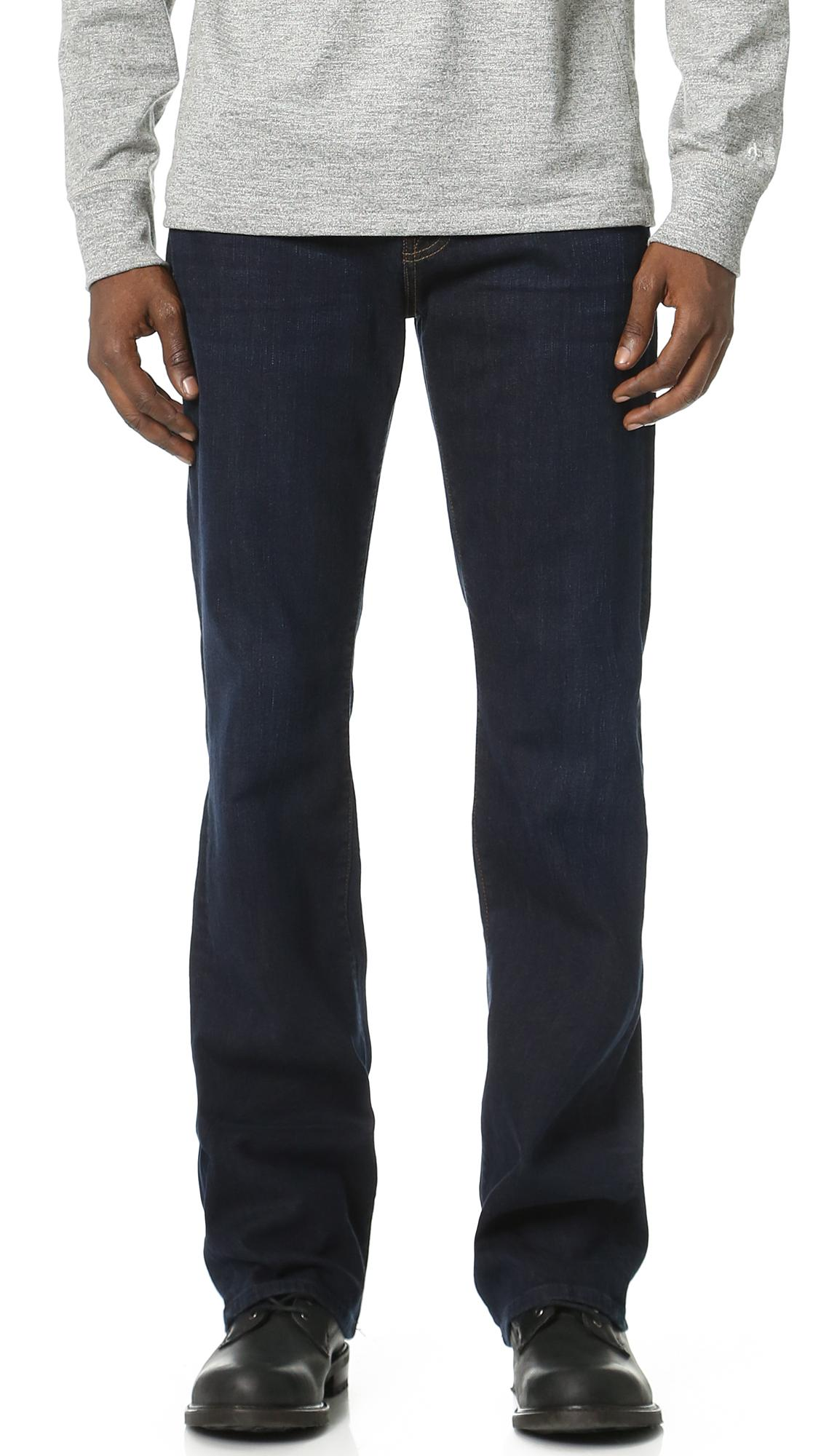 7 For All Mankind Brett Boot Cut Luxe Performance Jeans In Park Avenue