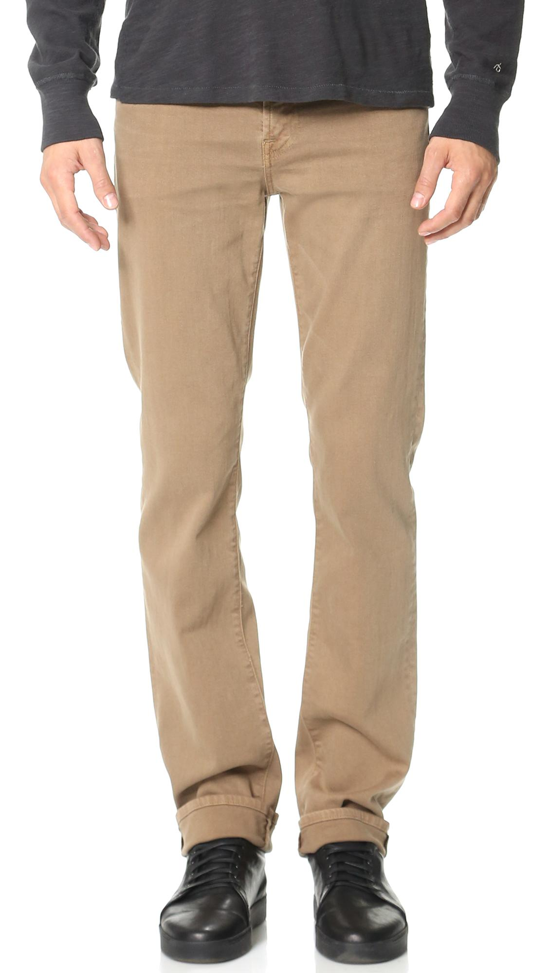 7 For All Mankind Luxe Performance Slimmy Jeans In Sand