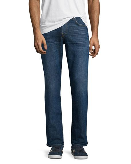 "7 For All Mankind Brett Modern Boot-Cut ""A"" Pocket Denim Jeans, Visionary"