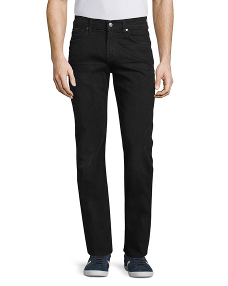 7 For All Mankind The Straight Washed Jeans, Black