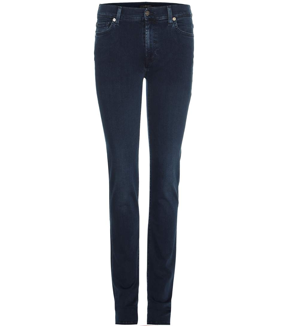7 For All Mankind Rozie High-Rise Slim Jeans In Blue