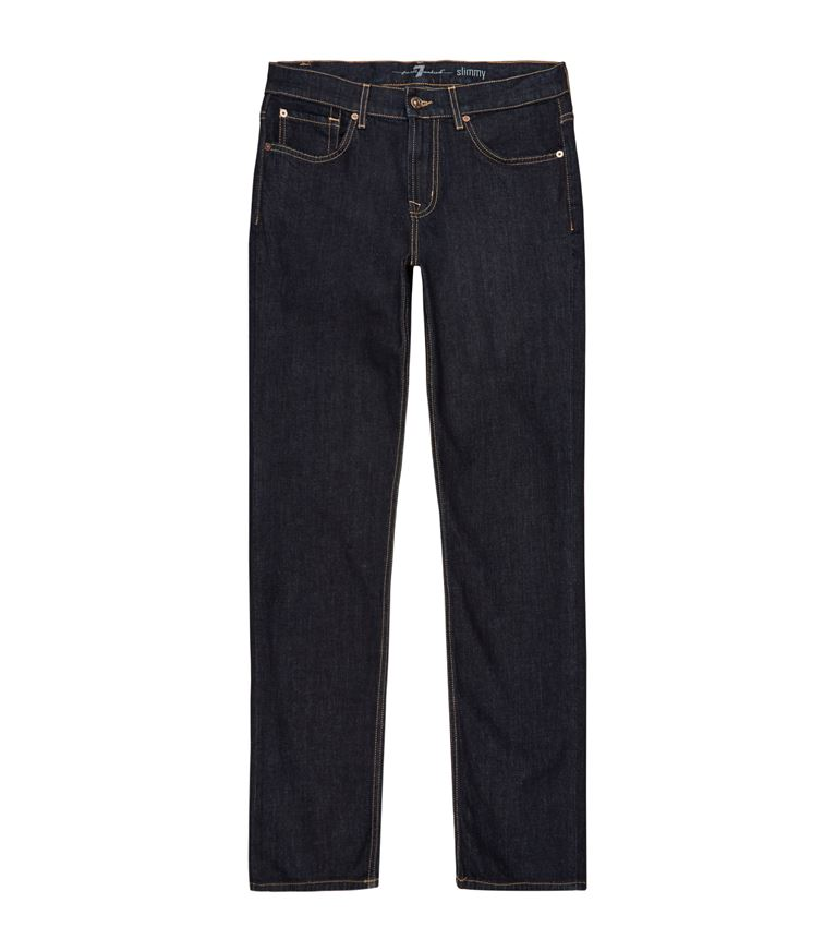 7 For All Mankind Slimmmy Luxe Sport Slim Straight Fit Jeans In Encore