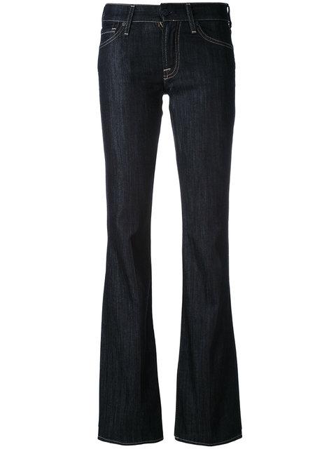 7 For All Mankind Priscilla High-Rise Flared Denim Jeans In Blue