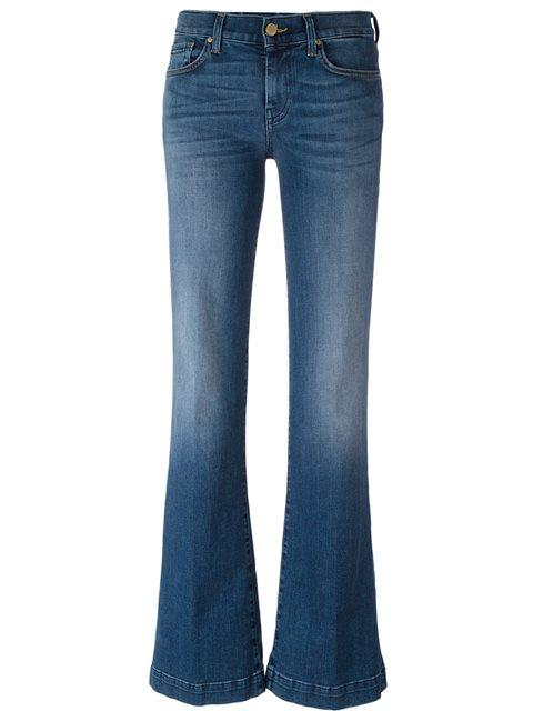 7 For All Mankind Flared Jeans In Blue