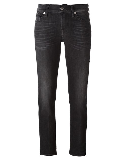 7 For All Mankind 'Roxanne' Skinny Jeans - Black