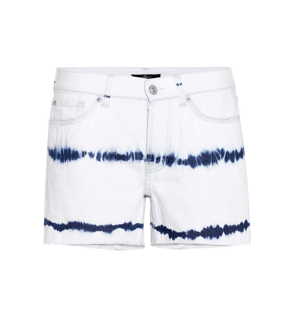 7 For All Mankind Slouchy Shorts In Surferspoiet