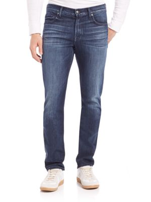 7 For All Mankind Slimmy Slit Straight Jeans In Tribute