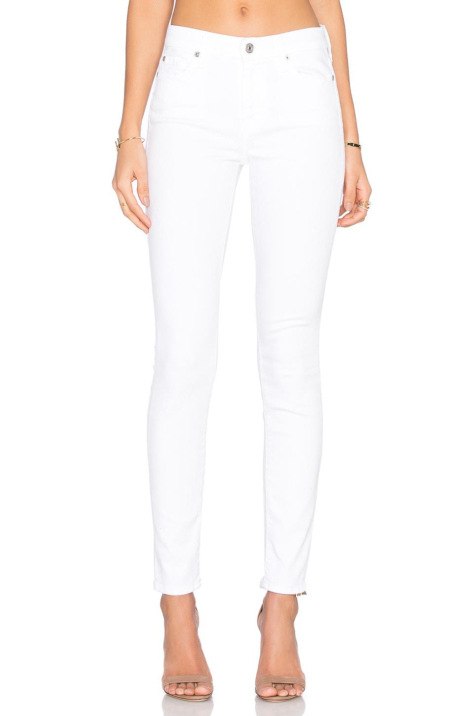 7 For All Mankind The Skinny Ankle Jeans, White