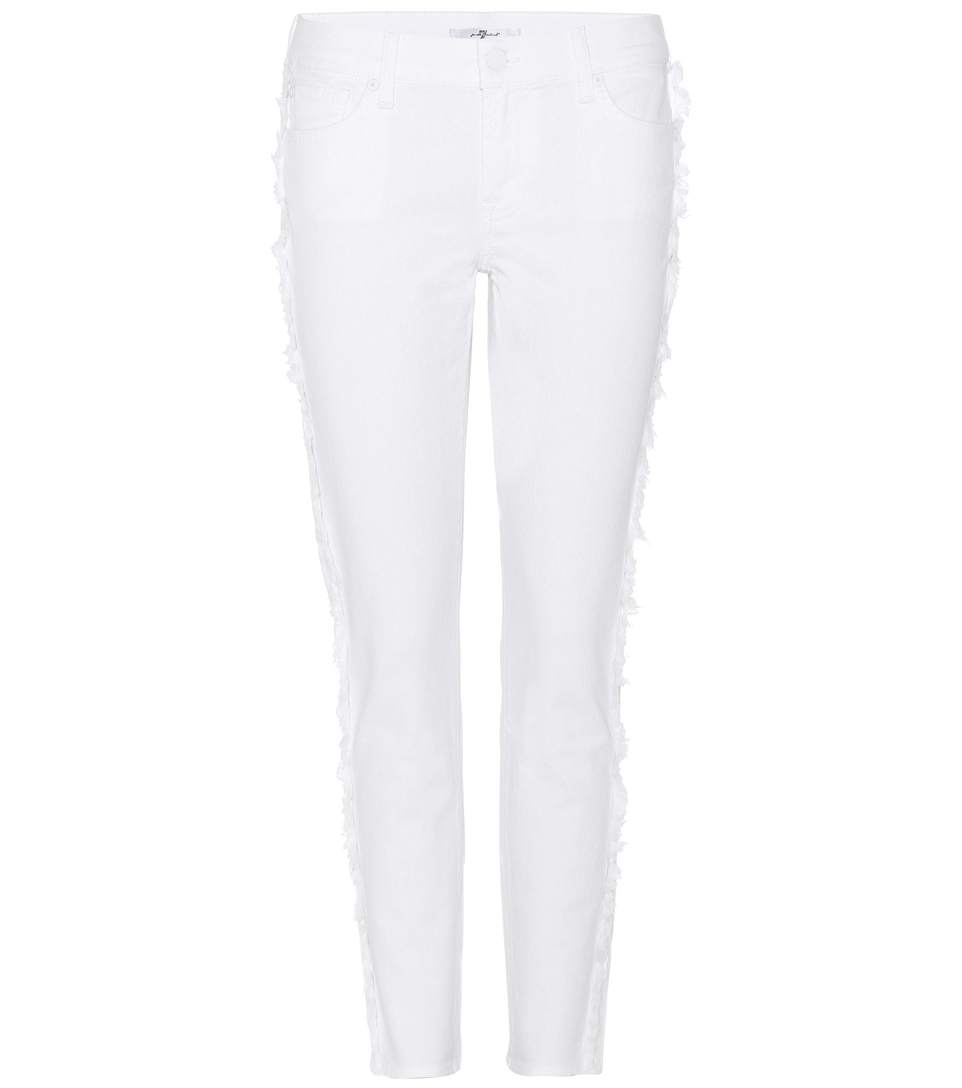 7 For All Mankind Roxanne Crop Mid-Rise Jeans