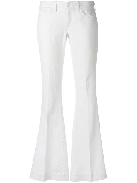7 For All Mankind Flared Jeans - White