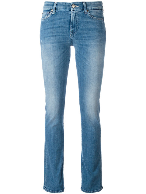 7 For All Mankind Kimmie Cropped Jeans In Bair Sunsent