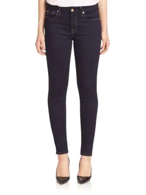 7 For All Mankind B(Air) The Skinny Jeans In Rinsed Indigo