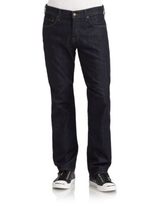 7 For All Mankind Carsen Relaxed Fit Jeans In Dark Blue