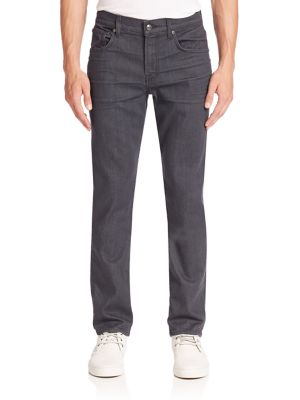 7 For All Mankind Straight Fit Jeans In Industrial