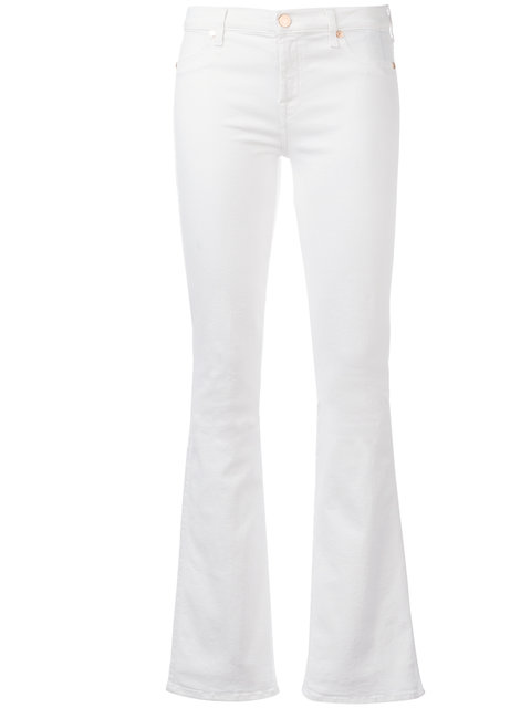 7 For All Mankind Bootcut Jeans - White
