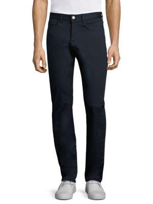 7 For All Mankind Slim Luxe Sport Straight Jeans In Black