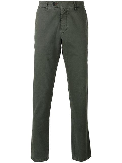 7 For All Mankind Chino Trousers In Green