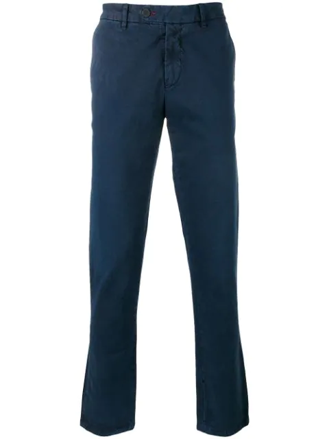 7 For All Mankind Slimmy Chino Slim-Fit Cotton-Blend Chinos In Blue