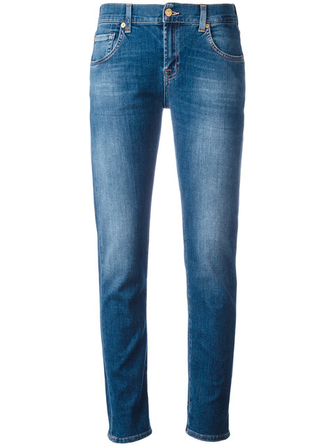 7 For All Mankind Cotton Piper Jeans In Cape May