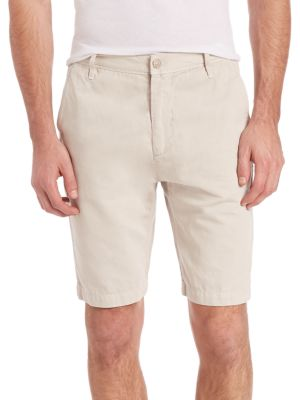 7 For All Mankind Chino Shorts In White Sand
