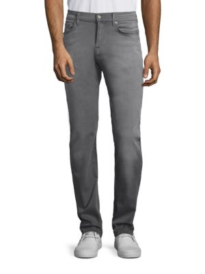 7 For All Mankind Slimmy Slim Straight Clean Pocket Jean In Aspen Grey