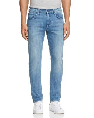 7 For All Mankind Luxe Performance The Straight Slim Straight Fit Jeans In Influx