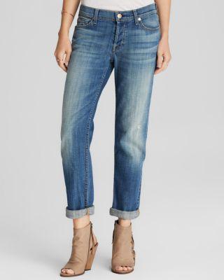 7 For All Mankind Josefina Slim Boyfriend Jeans, Bright Light Broken Twill In Bright Broken Twill