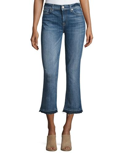 7 For All Mankind The Cropped Boot Jeans W/Released Hem, Chelsea Lights In Blue