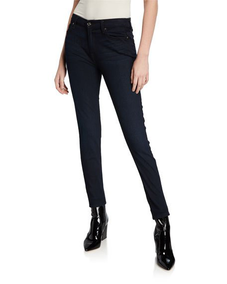 7 For All Mankind B(Air) Denim Ankle Skinny W/Released Hem, Tranquil Blue