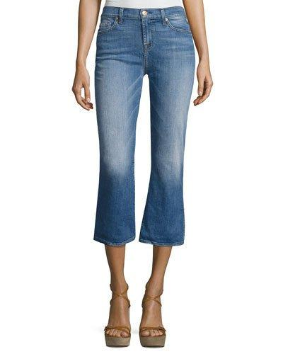 7 For All Mankind Cropped Boot Denim Jeans, Indigo