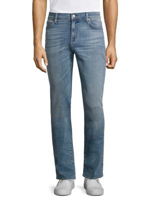 7 For All Mankind Slimmy Slim Fit Jeans In Lisbon In Tidal Wave