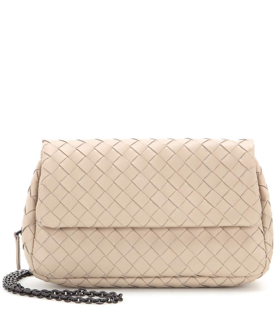 Bottega Veneta Messenger Mini Intrecciato Leather Shoulder Bag