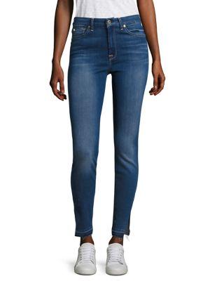 7 For All Mankind B(Air) Released Hem Slit High-Waist Skinny Jeans In Bair Manhattan