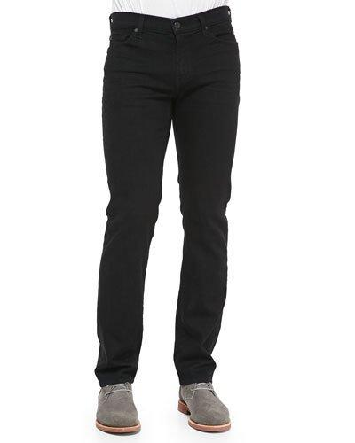 7 For All Mankind Luxe Performance Slimmy Slim Fit Jeans In Nightshade Black In Night Shade