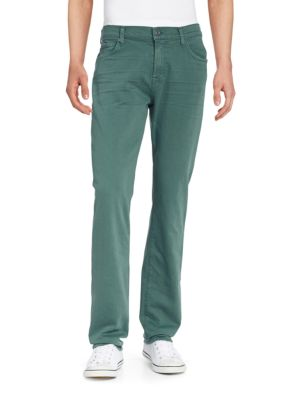 7 For All Mankind Slimmy Luxe Performance Slim Straight Jeans In Moss