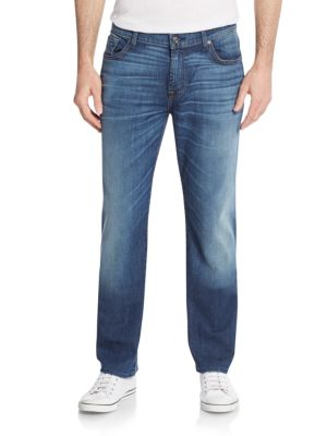 7 For All Mankind Austyn Straight Jeans In Sky