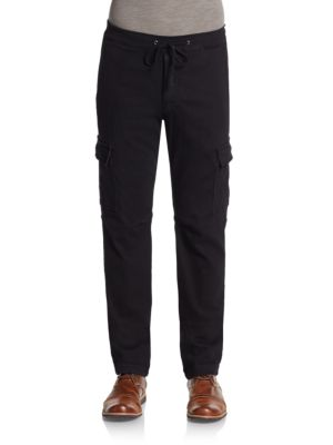 7 For All Mankind Knit Cargo Pants In Black