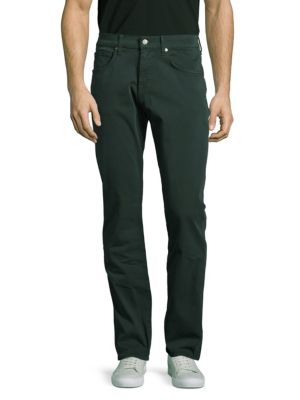 7 For All Mankind The Straight Chino Pants In Black Emerald