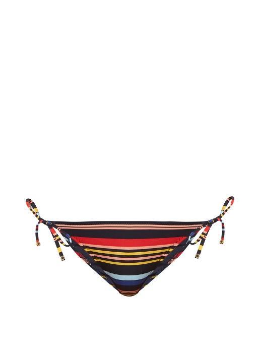 Stella Mccartney Striped Bikini Briefs In Multi