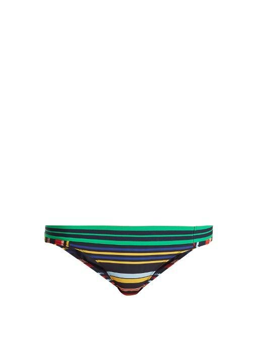 Stella Mccartney Woman Striped Low-Rise Bikini Briefs Multicolor