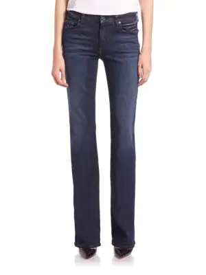 7 For All Mankind Kimmie Slim Illusion Luxe Bootcut Jeans In Luxe Rich Blue
