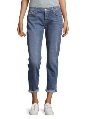 7 For All Mankind Josefina Distressed Boyfriend Jeans In Gold Coast