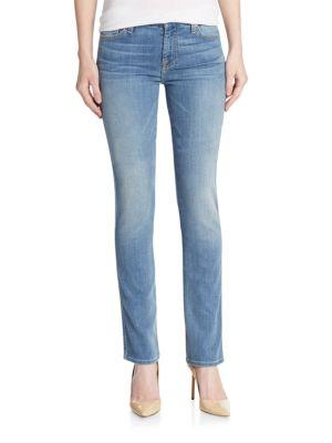 7 For All Mankind Karah Straight-Leg Jeans In Blue