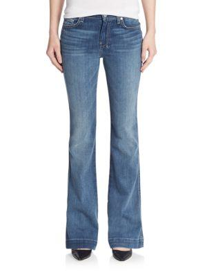 7 For All Mankind Slim Flared Jeans In Sadie Blue