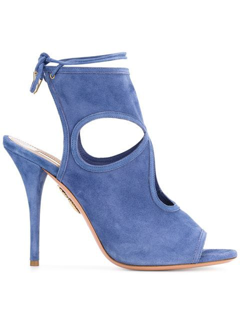 Aquazzura Sexy Thing Sandals In Blue