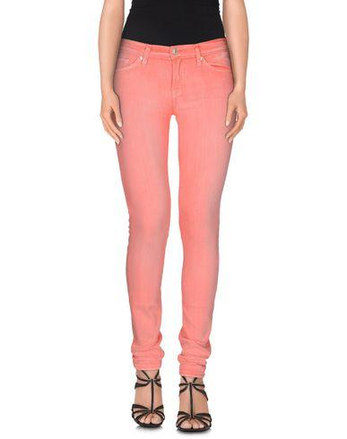 7 For All Mankind Denim Pants In Coral