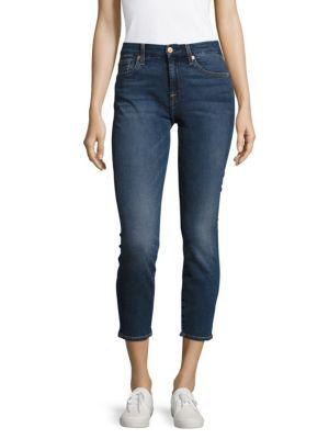 7 For All Mankind Karah Cropped Five-Pocket Jeans In Addison Park