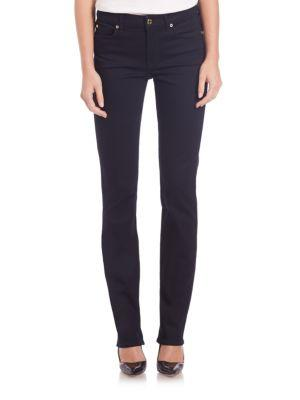 7 For All Mankind Kimmie Slim Illusion Jeans In Slim Blue