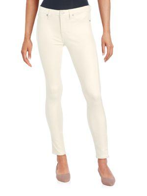 7 For All Mankind Solid Five-Pocket Jeans In Antique White